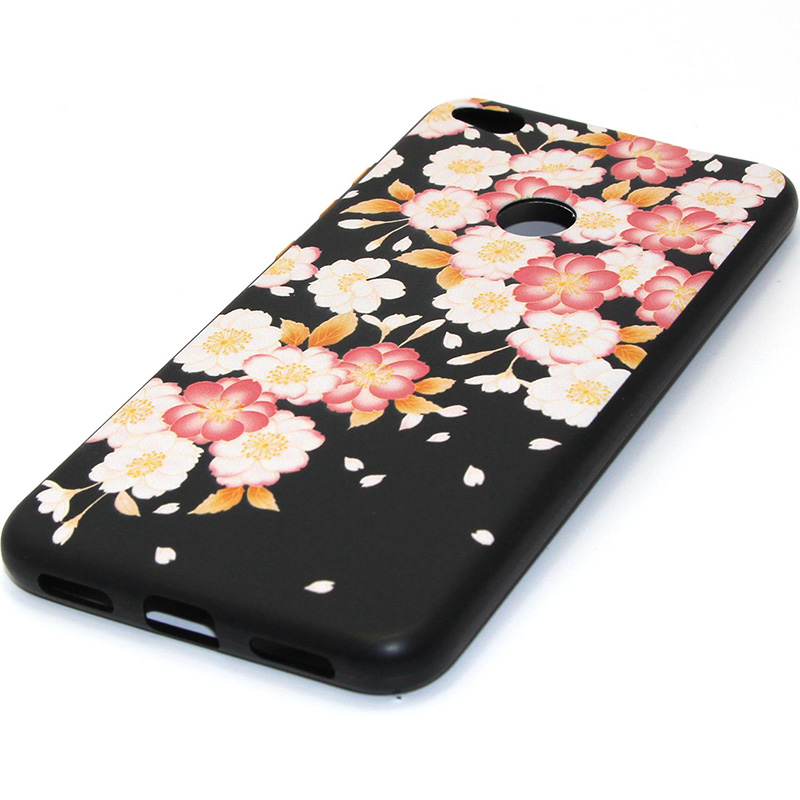 3D Relief flower silicone case huawei p8 lite 2017 honor 8 lite (16)