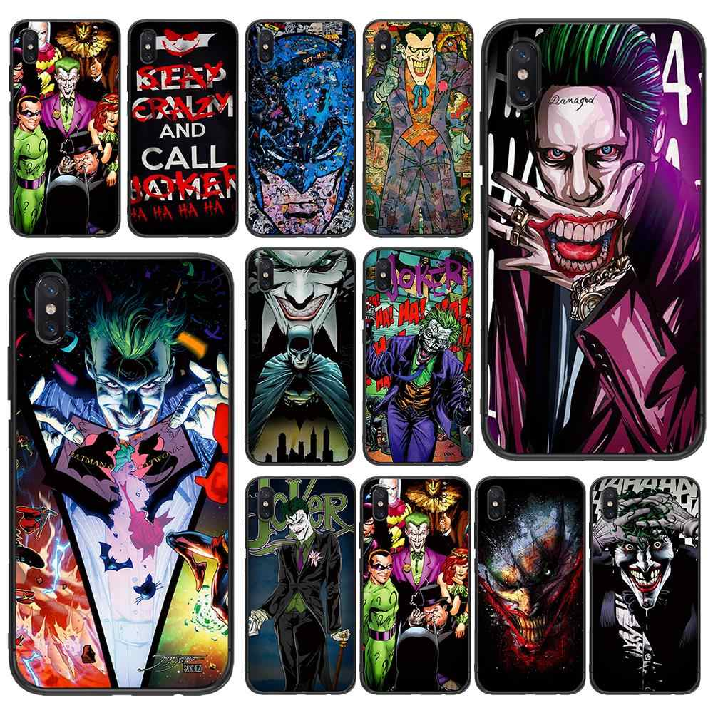 Comics Batman Joker süper yumuşak TPU Xiaomi Redmi için Mi6 8 9 A1 A2 F1 artı durumda Redmi 5/ 5 artı M8 Lite silikon telefon Case arka