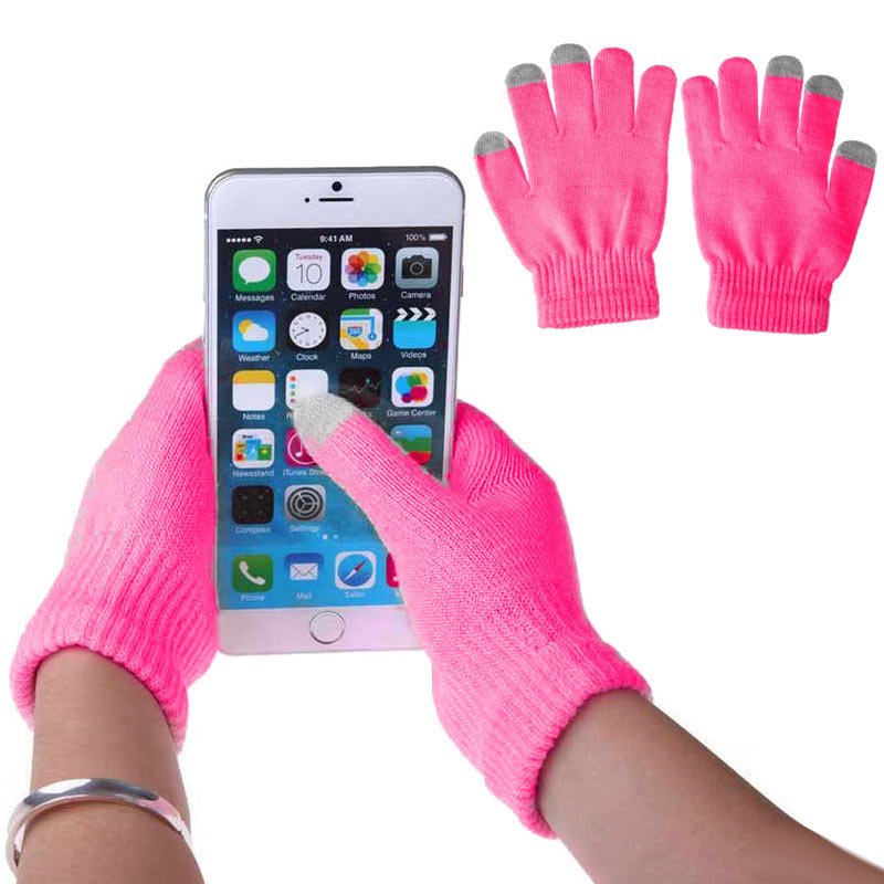 1 Pair Unisex Winter Warm Capacitive Knit Gloves Hand Warmer For Touches Screen Smart Phone  BMF88