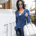 Poncho pullover sweaters 2016 autumn winter new female knitted jacket solid color irregular long-sleeve pullover Sexy Women Tops