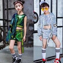 Топы+ штаны+ пальто, детская одежда с блестками для современных танцев в стиле джаз и хип-хоп костюмы для девочек и мальчиков, вечерние костюмы для сцены