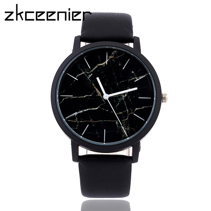 Fashion Marble Style Leather Quartz Women Watch Top Brand Men Watches Fashion Casual Sport Wrist Watch Hot Sale Lovers Relojes