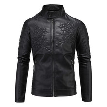 Free shipping,2016 Hot Sale Fashion Men's Leather Jacket Men's Casual quality brand motorcycle leather jackets men coat