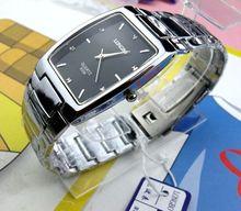 Nouvelle arrivée de mode longbo marque complet en acier inoxydable hommes d'affaires montre casual étanche montres à quartz carré montres