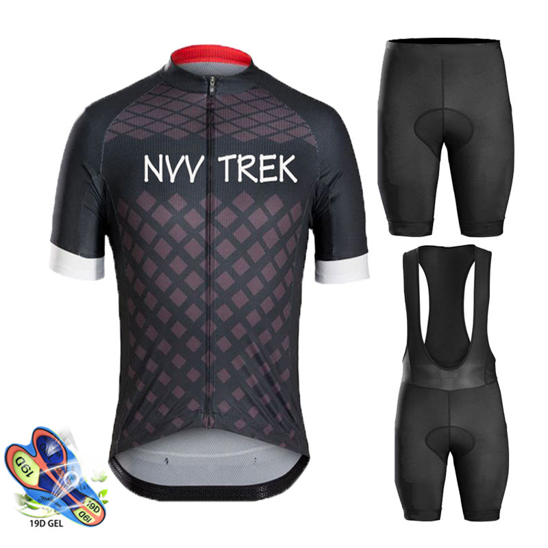 2019 Trekking Summer Pro Cycling Jersey Set Mtb Shorts Sleeve Maillot Ropa Ciclismo Bicycle Sportswear Bike Clothing Cycling Set
