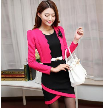 Autumn-new-OL-commuter-fashion-cultivate-one-s-morality-quality-professional-two-piece-Dress-small-suit (3)