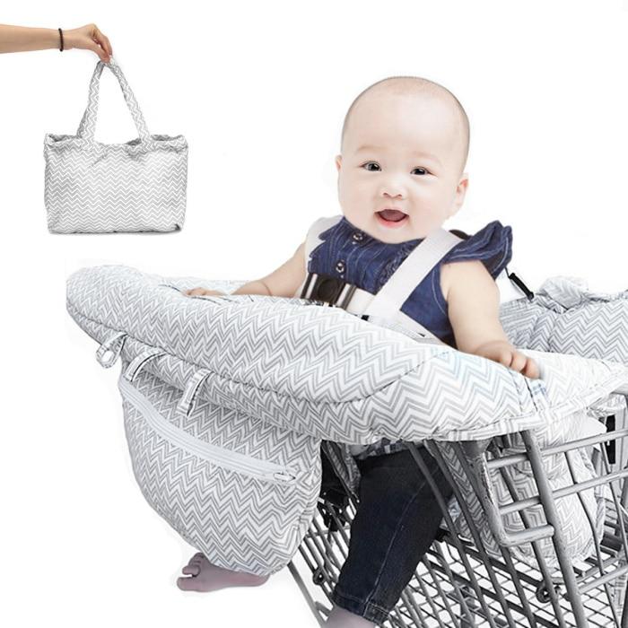 10 видов стилей серый чехол для детской тележки с рыбками, чехол для коляски, подушка для сиденья, детский чехол для стульев, защитная складная подушка в полоску - Цвет: Gray big size