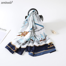 New Style Women 100% Silk Scarf 130*130cm Square Satin Scarves For Lady Wrap Bandana Shawls Stoles