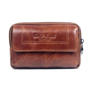 Image 1 - New Men Leather Cowhide Vintage Travel Cell Mobile Phone Case Cover Belt Pouch Purse Fanny Pack Waist Bag