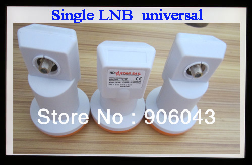 5pcs/lot  single lnb, universal LNB for satellite receiver, 0.1db lowest Noise Figure LNB, ku band lnb,full 1080p HD