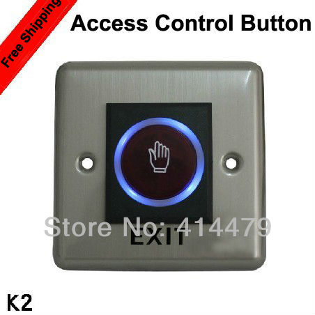 IR Door Release Touch Exit Switch Access Control Button stainless steel rectangle exit push release button switch for electric magnetic lock door access control