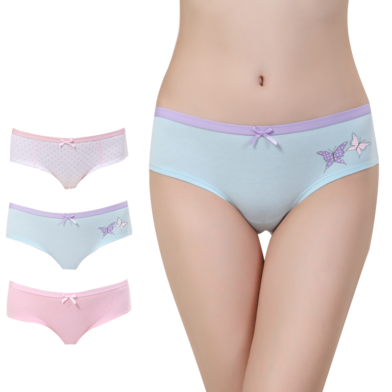 Sexy Women Female Briefs Panties Brand  Underwear Womens cotton Underwear For Lady lingerie Intimates  Free shipping
