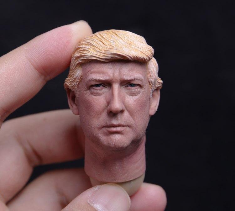 1:6 échelle Donald Trump tête sculpter homme tête modèle Figure tête Art peinture Fit 12