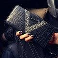 Nueva Moda de Cuero Carpeta de Las Mujeres de LOUIS Bolsa mismo estilo de Señora Long Cremallera Monedero Bolso Del Teléfono Tarjeta Monedero carteira masculina
