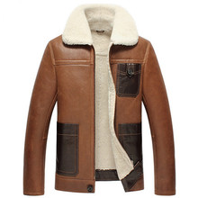2015 In winter New man Lapel A short and slim type Sheep shearing Skin and fur Leather jacket  WXN019