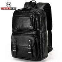 FEIDIKABOLO Men Backpack Men Bagpack Male Leather Backpack Laptop Man Travel Backpacks Morrales Mochila Masculina Cuero