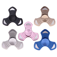 Hot Sale Creative Aluminum Alloy Tri-Spinner Fidget Spinner Anti Stress Quit Smoking Hand Spinner For Autism Decompression gyro