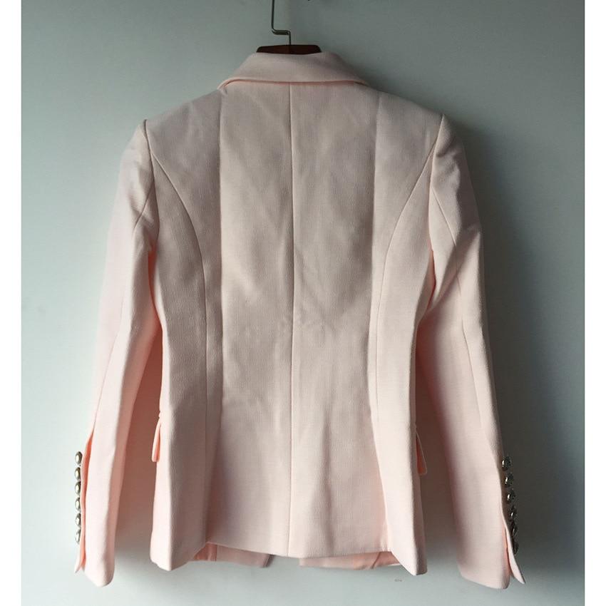 Argent 1 L'europe En Femmes Breasted Double De Métal À Modèles Rose Costume Boucle Mince Veste États Les unis Et Explosion 1q014FH