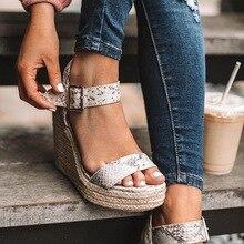 Summer Shoes Platform Sandals Women Peep Toe High Wedges Hee