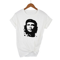 100% Cotton Che Guevara Graphic Print T-shirt Whit ...