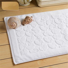 Five star hotel pure cotton bathroom door mat home kitchen conch pattern