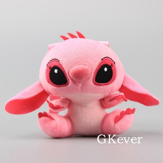 96a700151b7 Cute Mini 1 Piece Stitch Angel Kawaii Plush Pendant with Keychain Small  Stuffed Dolls 10 cm