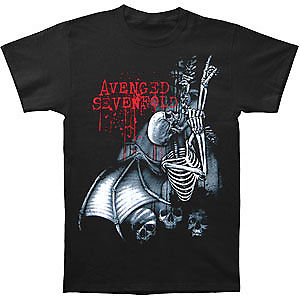 Avenged Sevenfold MenS Avs Spine Climber Mens Regular T T Shirt Black