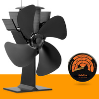 All DHL Fast Shipping 2PCS Heat Powered Stove Fan Popular Fireside Accessory