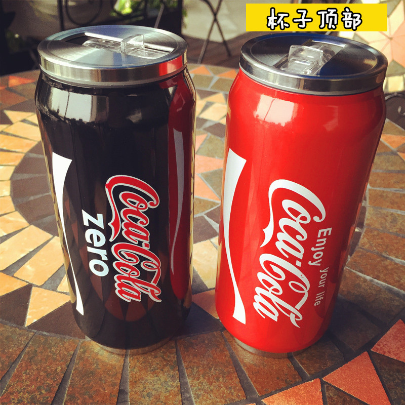 400ml creative cups of coke cans of stainless steel vacuum thermos cup cartoon child belly cup