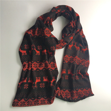 2017 new men autumn and winter warm elk snow knitting scarves British fashion long section Christmas deer children scarves