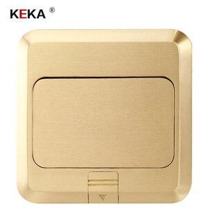 Image 4 - KEKA האיחוד האירופי תקע חשמל שקע כל ברונזה זהב פנל פופ שקע עם rj45 לשקע מחשב משובצת עמיד למים קרקע RU