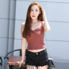 knitted halter camisole tank top 2017 summer style solid candy color spaghetti strap tight sexy singlet lady's camis drop ship
