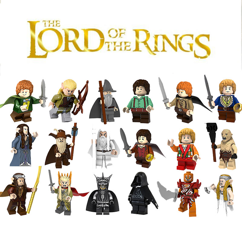 The Lord Of The Rings Figure Hobbit Blocks Gandalf Galadriel Eowyn Sauron Compatible Legoed  Building Blocks Toys For Children(China)