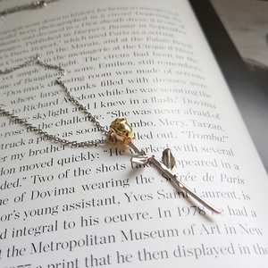 Image 3 - LouLeur 925 sterling srebrna róża kwiaty wisiorki naszyjnik mały książę róża kwiaty modny naszyjnik dla kobiet piękna biżuteria