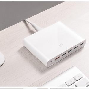 Image 5 - شاومي شاحن سريع 3.0 جهاز ذكي الهاتف 110 240 فولت 60 واط 5 USB 1 نوع C منافذ QC 3.0 الإخراج