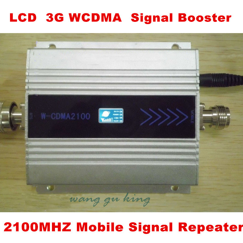 Hot 3G 2100MHz 2100mhz UMTS WCDMA Mobile Phone Cell Phone Signal Booster Repeater Gain 60dbi LCD Display For House Office