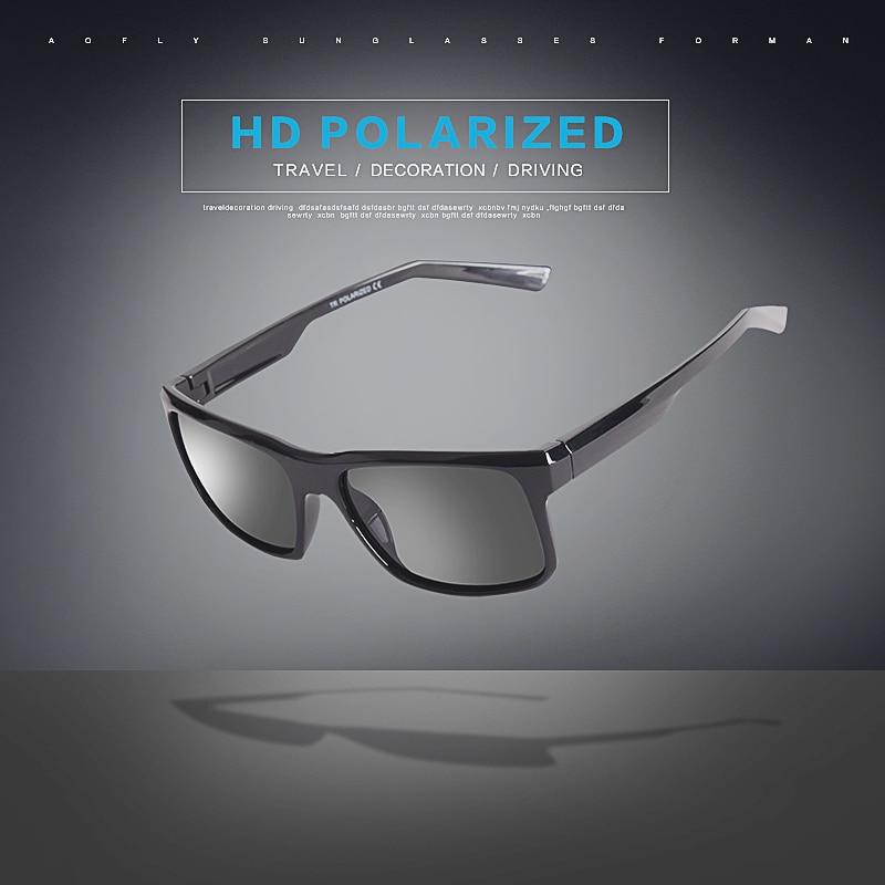 AOFLY BRAND DESIGN Cool Men Polarized Sunglasses TR90 Frame Sun Glasses Male Square Shades Googles Oculos Gafas De Sol AF8084