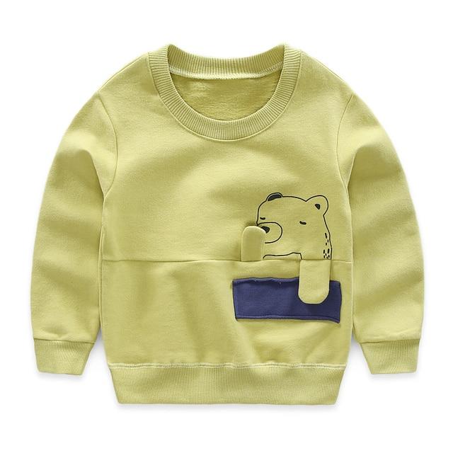 wear long sleeved T-shirt cotton summer autumn girls and boys long sleeved T-shirt body baby cartoon T-shirt 2561