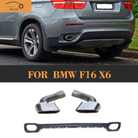 Car-Styling PP Car Auto Rear Diffuser Lip With Exhaust Tip for BMW F16 X6 Standard Bumper 2015 2016