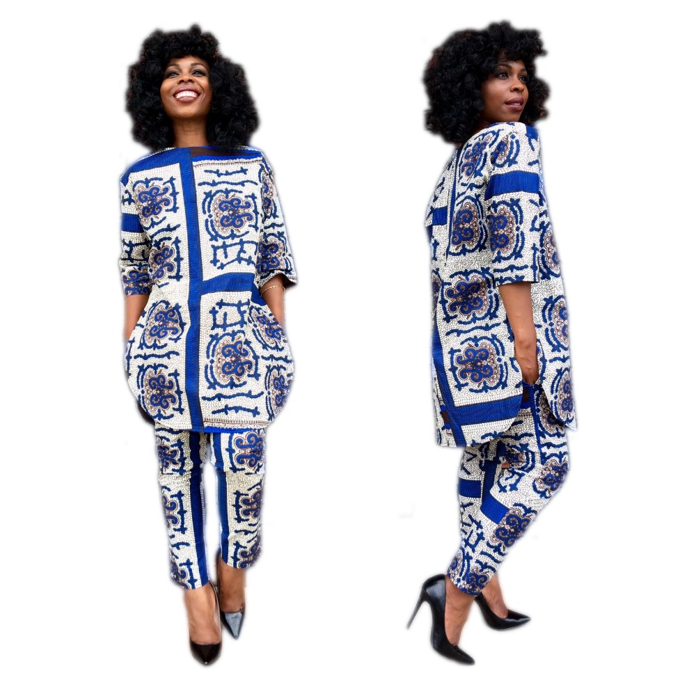 African Women Fashion: Summer Traditional African Clothing 2 Piece Set For Women