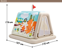 Cartoon baby rocking crib jumping seat Tent Inflatable toys swimming poor House Bouncers,Jumpers Swings 1 6 year gift