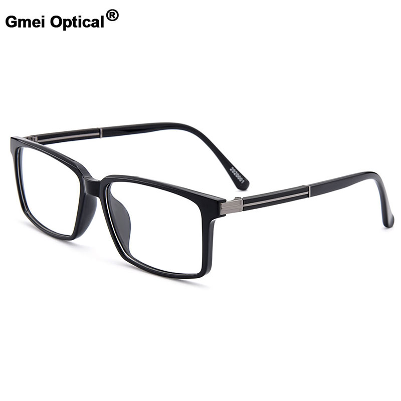Gmei Optical Stylish Urltra-Light TR90 Rectangular Full Rim Men Optical Eyeglasses Frames Women Myopia Presbyopia Eyewear M20200