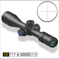 Descoberta Outdoor optics HD 4-20X50SFIR FFP Primeiro Plano Focal riflescope Iluminação rifle scope Caça Tiro Tático