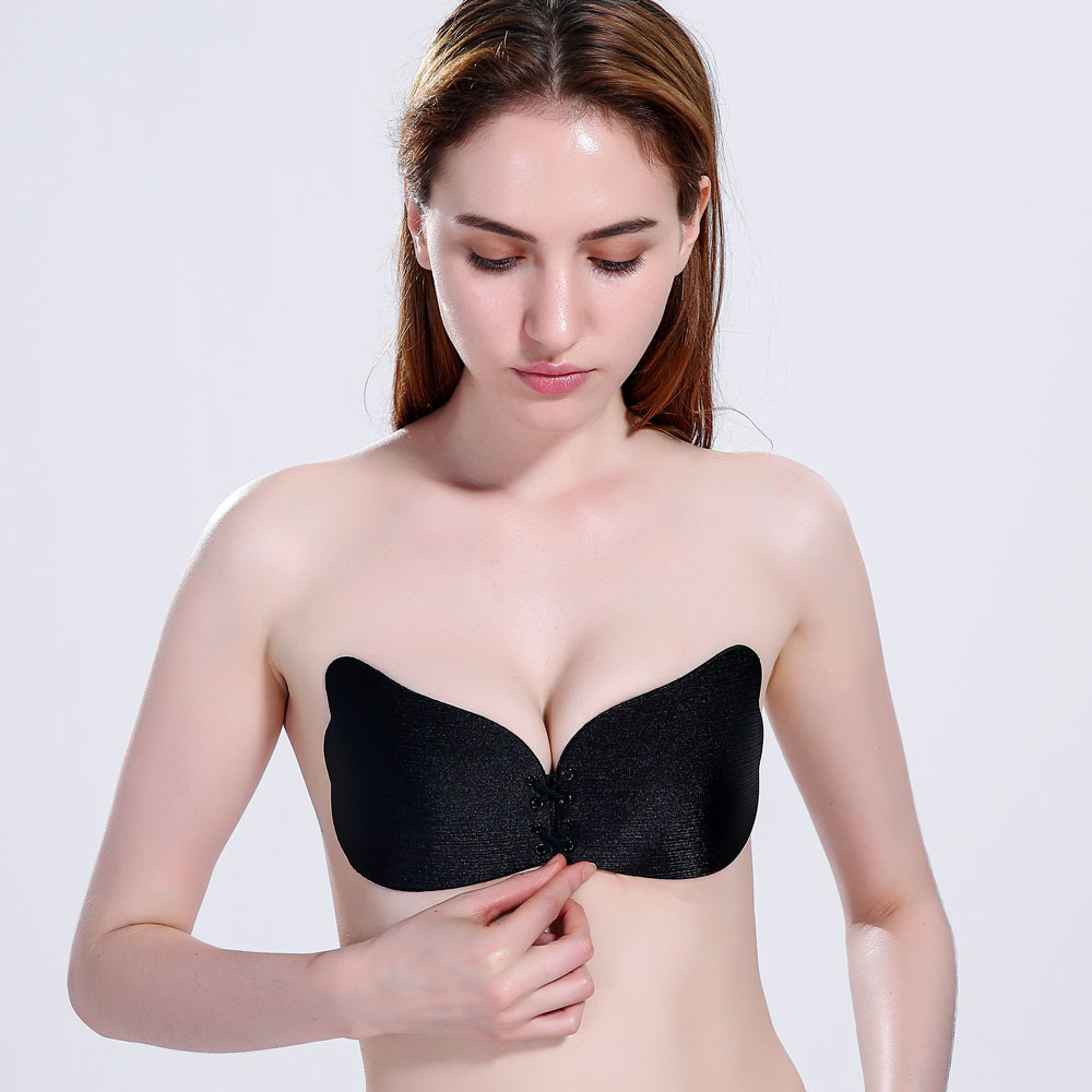 20a1e66cab638 Strapless Ultra low cut Fly Bras Sexy Lingerie Backless Bra butterfly  Adhesive Invisible Underwear Brassiere-in Bras from Underwear   Sleepwears  on ...