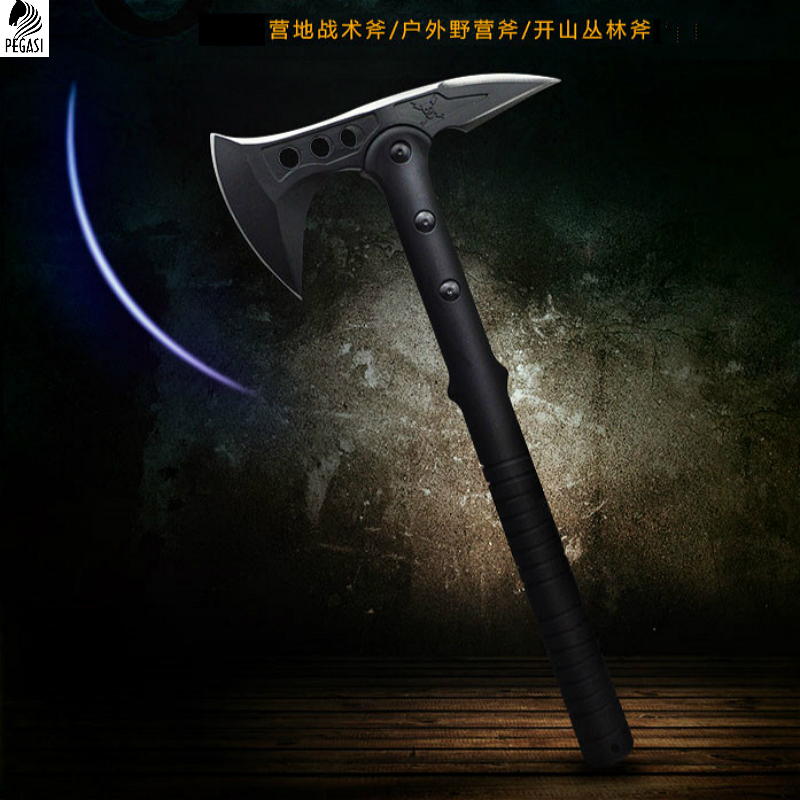 PEGASI CS Tactical Axe Tomahawk Army Outdoor Hunting Camping Survival Machete Axes Hand Tool Fire Axe Hatchet Axe Ice AxE