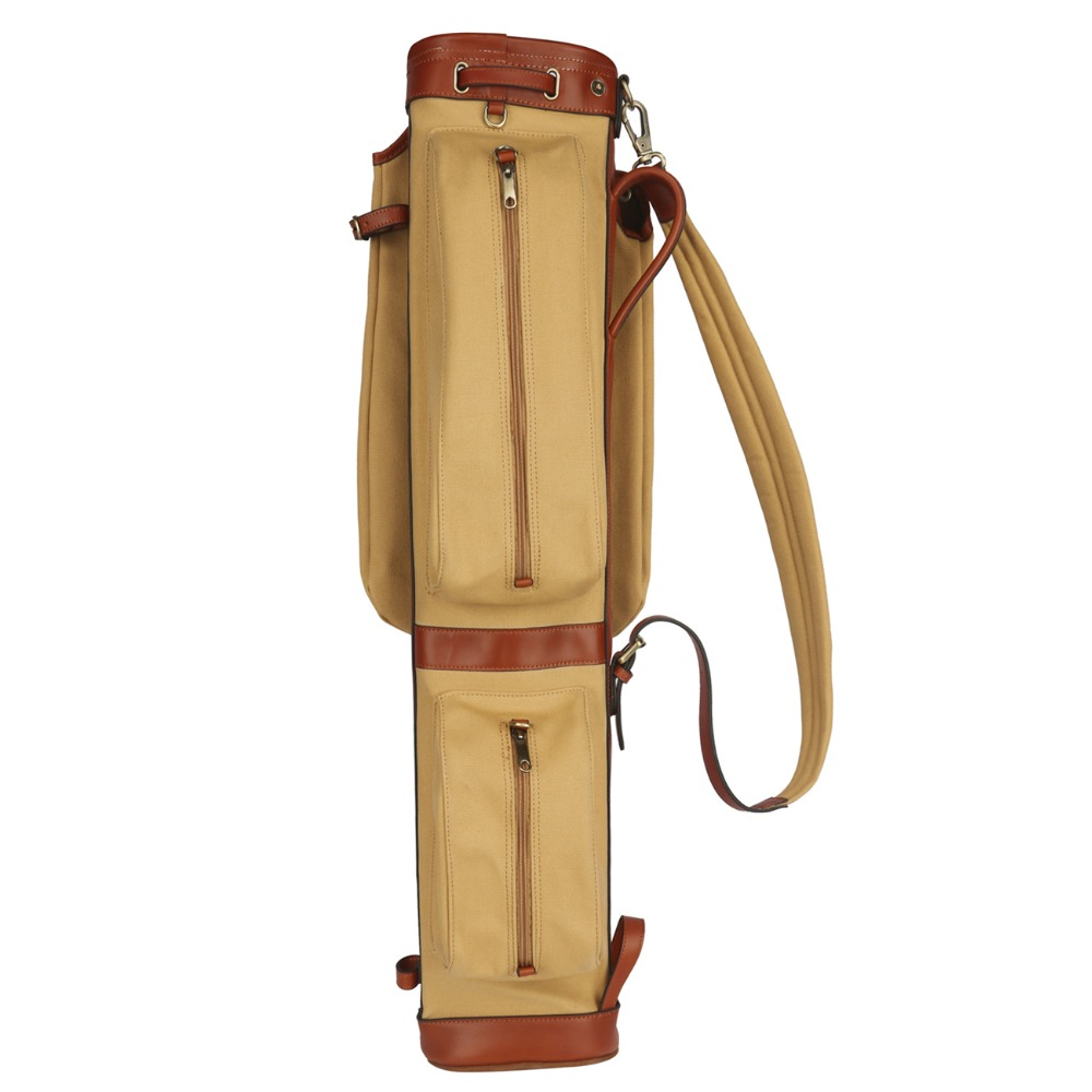 Tourbon Canvas Pencil Style Golf Club Carrier Vintage