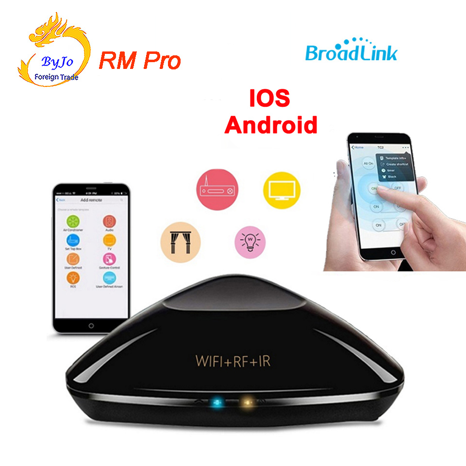 Broadlink RM Pro Smart home Automation,Universal Intelligent controller,WIFI+IR+RF Switch remote control by IOS android broadlink rm2 rm pro universal intelligent remote switch smart home automation wifi ir rf switch via ios android phone
