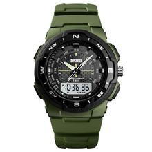 купить Men's Watch Men 50M Waterproof Military Sports Watches Dual Time Analog LED Digital Wristwatches Men relogio masculino Clock по цене 437.57 рублей