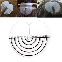 500pcs Clear Heat Insulation Sheet Protector Shield Scale Mark Styling Tools For Round Tip Keratin Hair Extensions Tool Kit