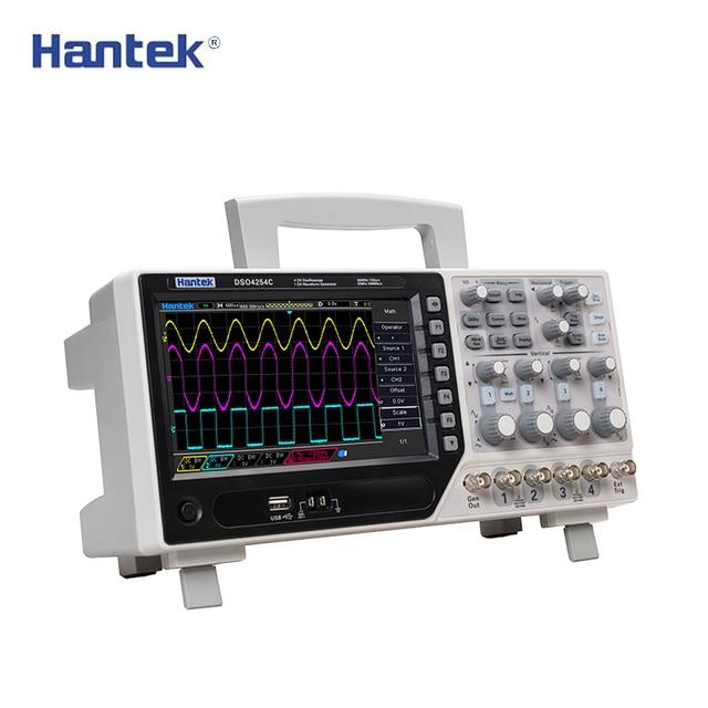 Flash Promo 2018 Hot Sales Hantek DSO4254C 4CH 1GS/s sample rate 250MHz bandwidth Digital Storage Oscilloscope